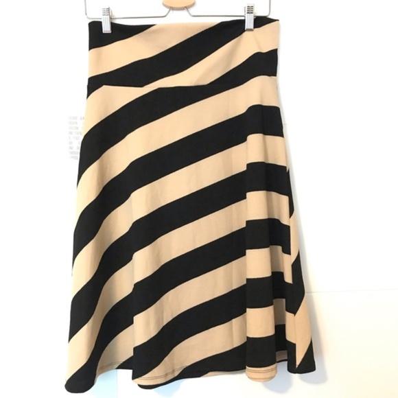 NWT Lularoe Azure skirt tan/black Sz Large